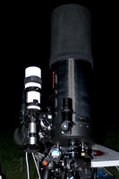 Closeup of Long Focal Length Scope and Guidescope
