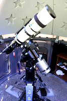 APM/TMB 130/780 Refractor on Astro-Physics Mach1GTO Mount on the Eagle Adjustable Folding Pier