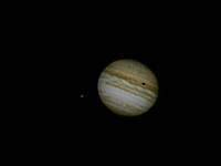 Jupiter With Io Transit and Ganymede in Attendance
