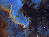 "LDN 935 and the ""Cygnus Wall"" in Modified Hubble Palette"