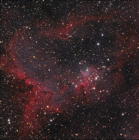 "Core of the ""Heart Nebula"" - Melotte 15 in IC 1805"